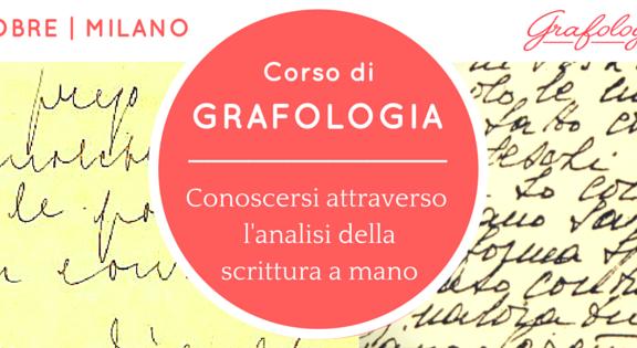 corso grafologia Milano