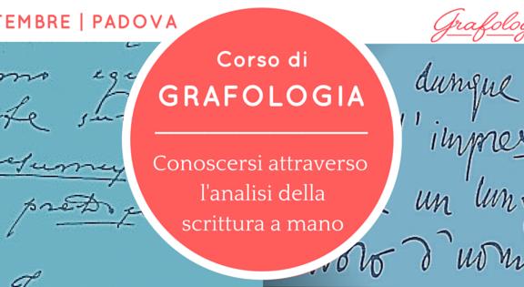 Corso grafologia Padova
