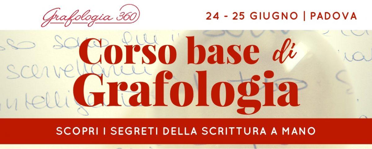 corso base grafologia Padova