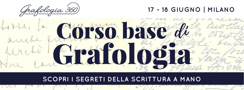 corso base grafologia Milano