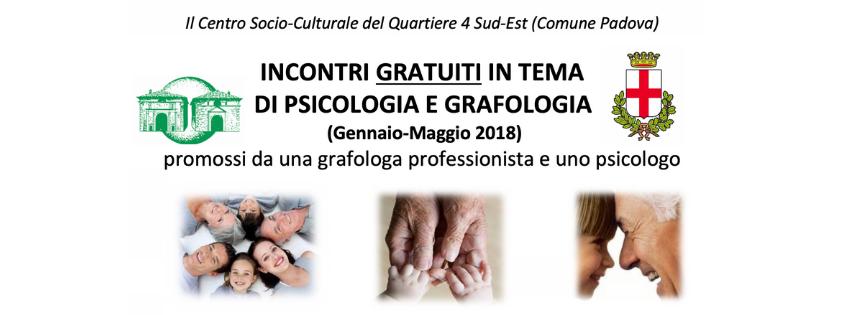 Incontri di grafologia e psicologia con il Quartiere 4 comune di Padova