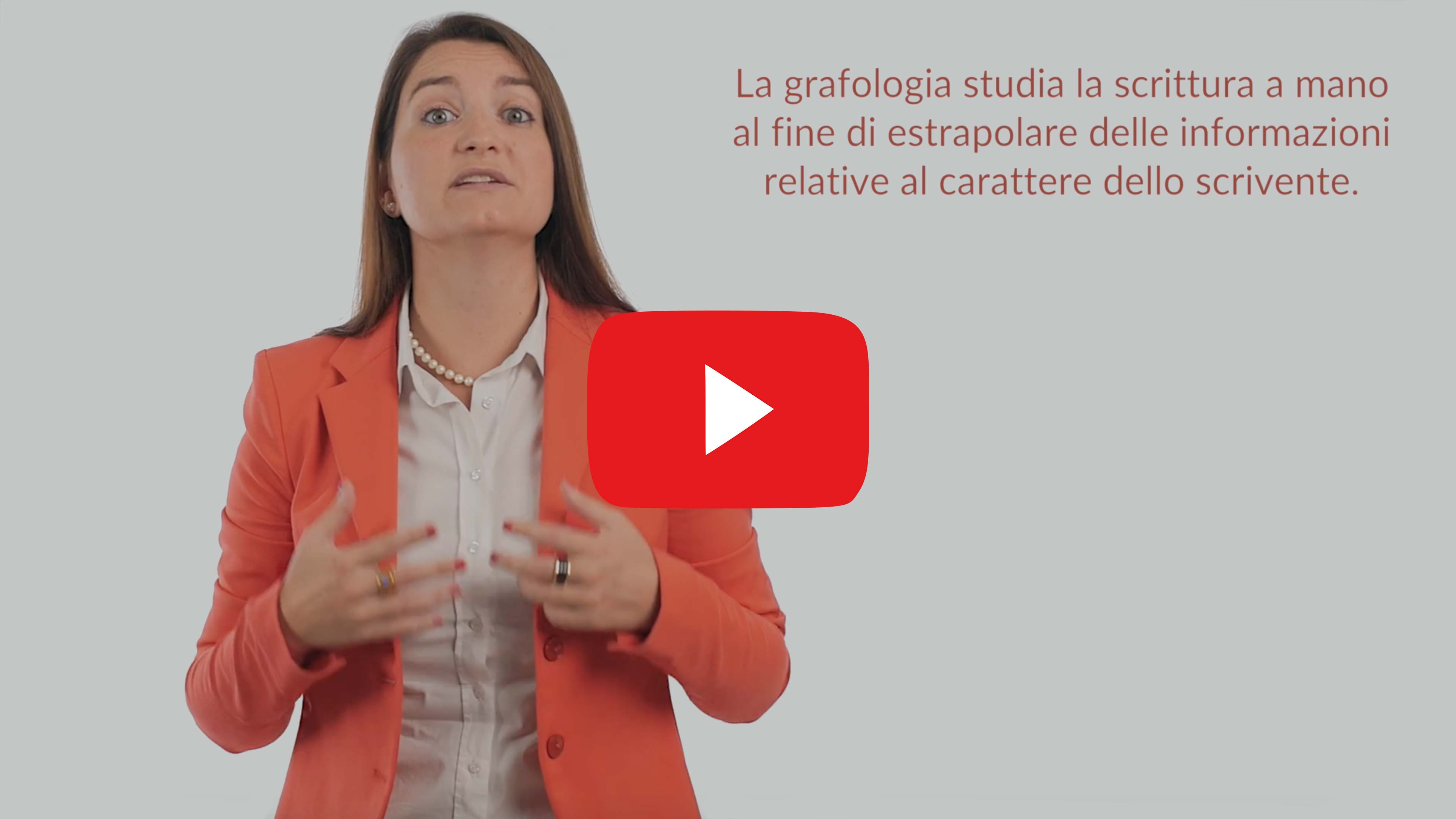Le credenze da sfatare sulla grafologia, video Youtube Grafologia360