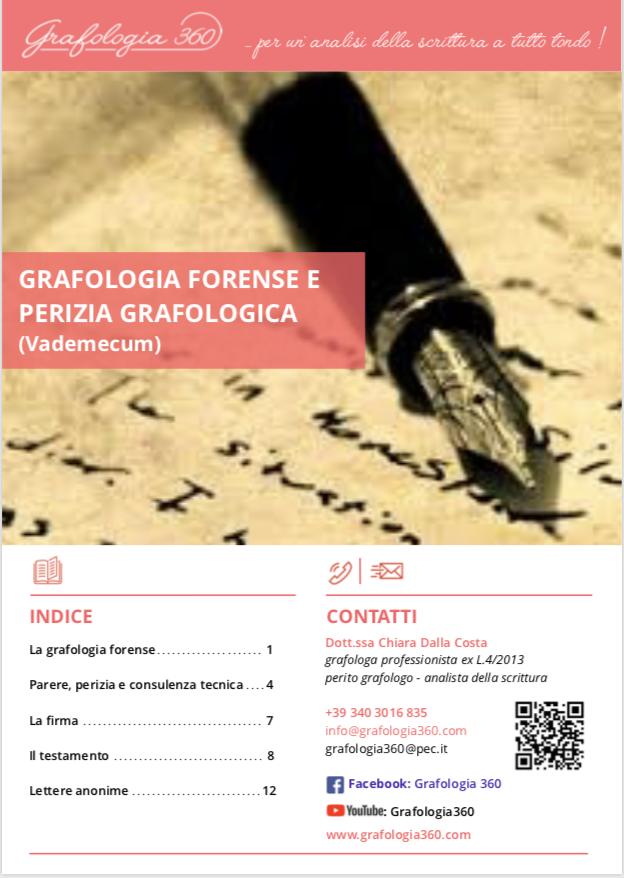e-book sulla grafologia forense e il perito grafologo di Grafologia360