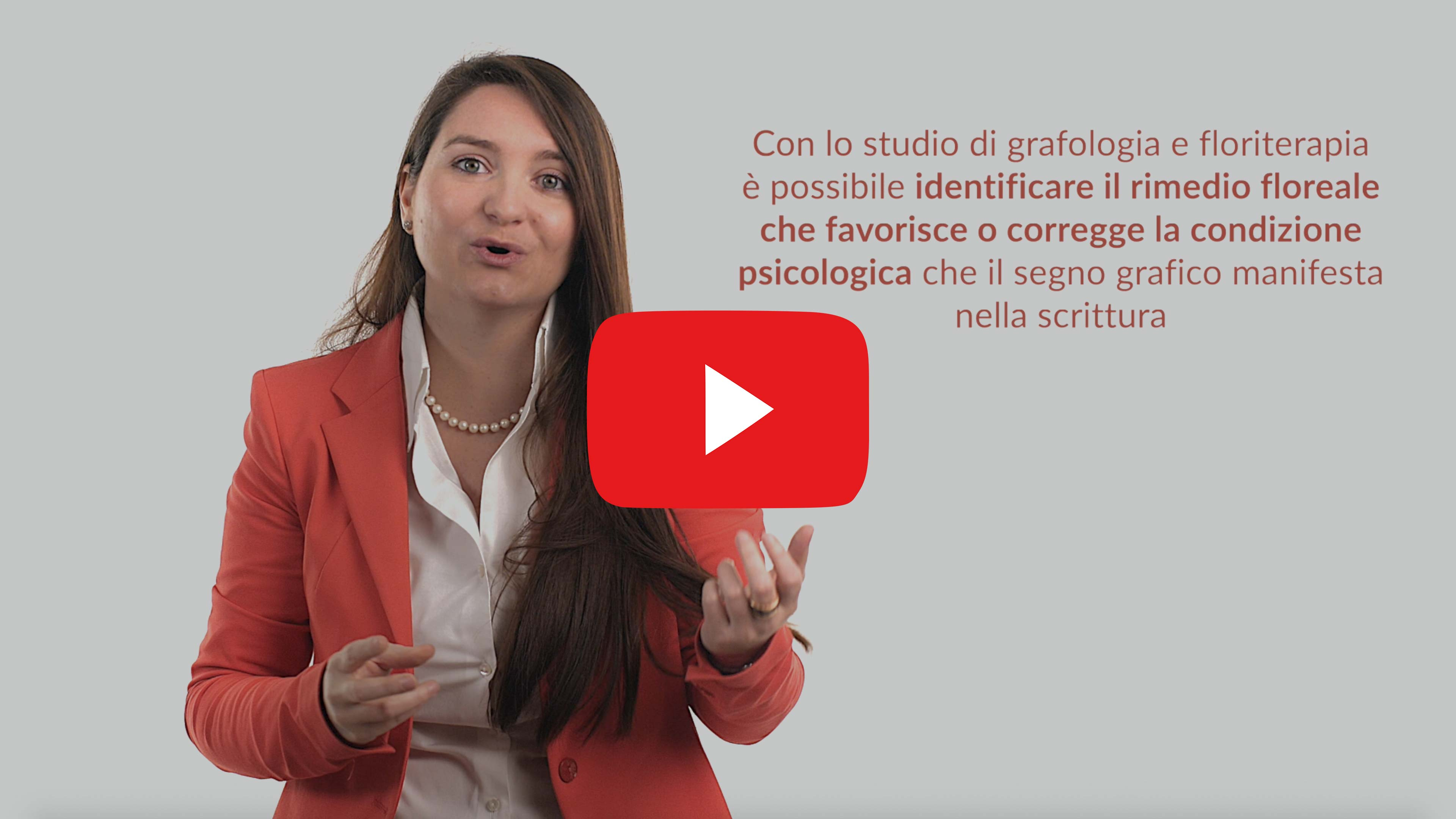 La grafologia associata alla floriterapia, video Youtube Grafologia360