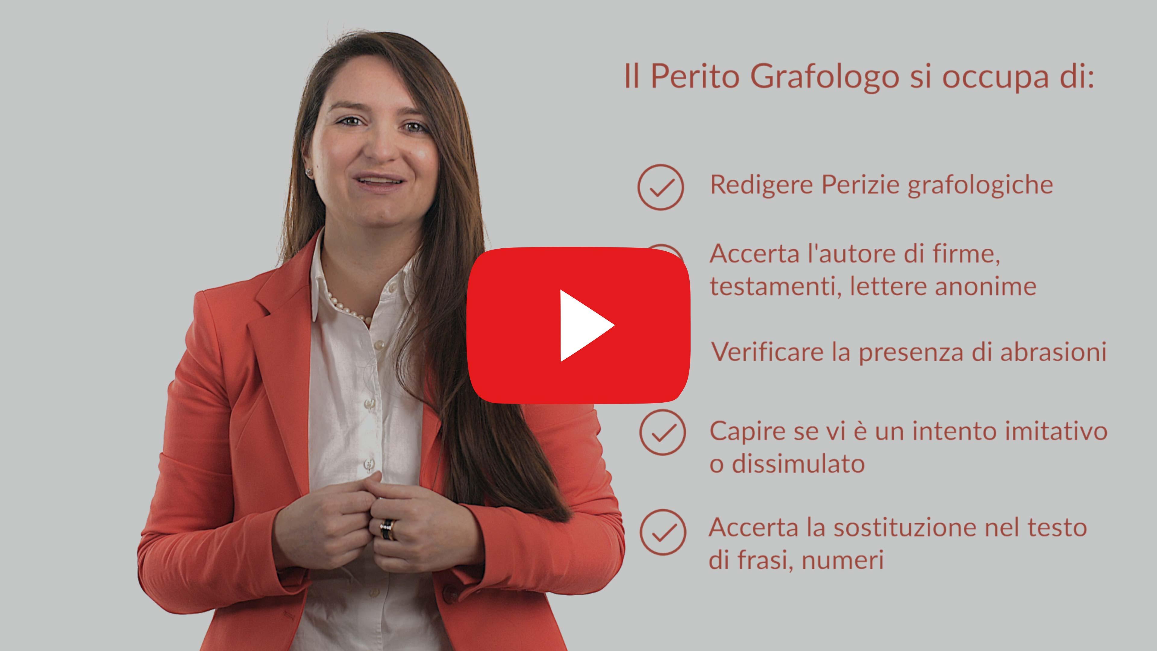 La Grafologia forense, video Youtube Grafologia360