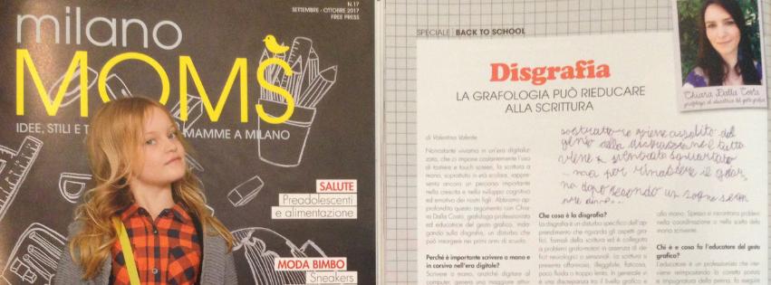MilanoMOMS intervista Dalla Costa Chiara di Grafologia360 in tema di disgrafia