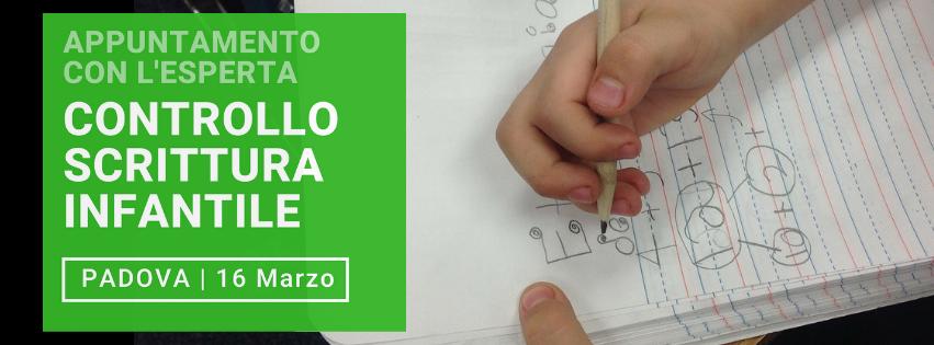 Appuntamento per controllo scrittura infantile 16 marzo da Grafologia360