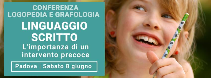 Linguaggio scritto, disgrafia e problemi di scrittura infantile, conferenza di Grafologia360 a Padova