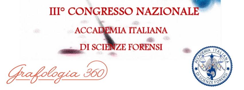 Conferenza grafologia e criminologia di Grafologia360 presso congresso Acisf