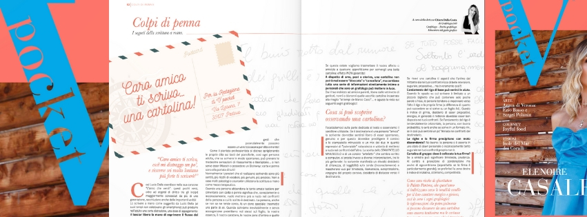 Interpretazione cartolina di Grafologia360 in V Pocket magazine