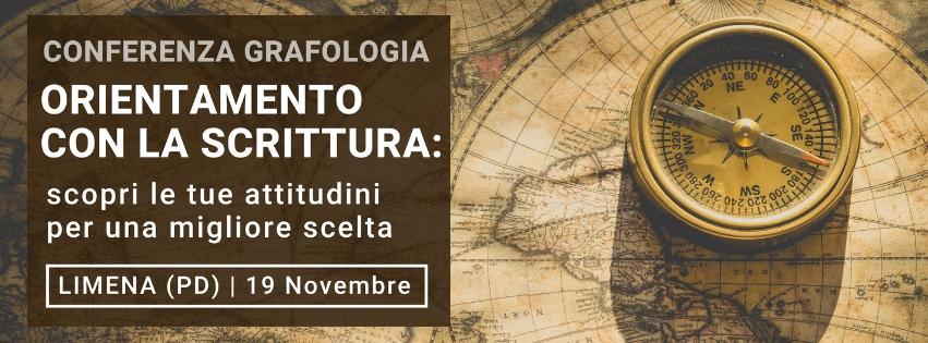 conferenza su orientamento e grafologia di Grafologia360 il 19 novembre
