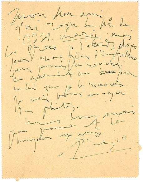 Scrittura di Pablo Picasso