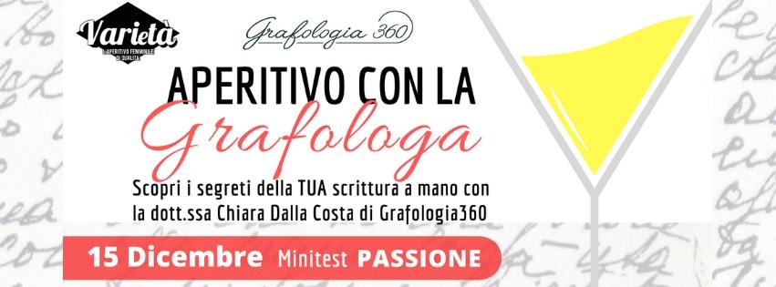 Aperitivo con la grafologa Chiara Dalla Costa di GRafologia360 a Padova