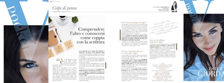 Coppia nella scrittura spiegata da Chiara Dalla Costa di Grafologia360 in VPocket di marzo