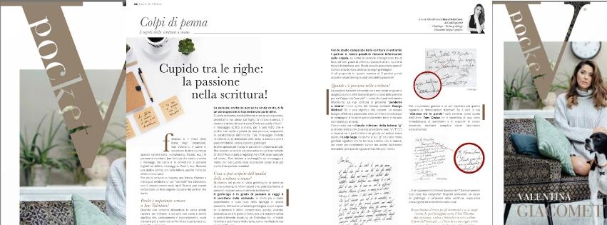passione nella scrittura spiegata da Chiara Dalla Costa di Grafologia360 in VPocket di febbraio