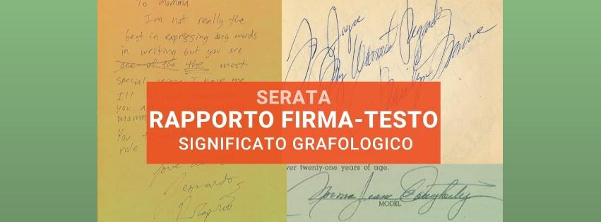 Il significato della firma in rapporto col testo scritto nell'evento di grafologia di Grafologia360