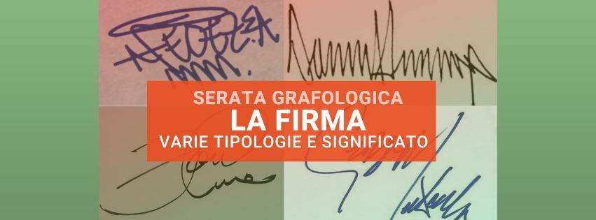 Il significato della firma nelle diverse tipologie nell'evento di grafologia di Grafologia360