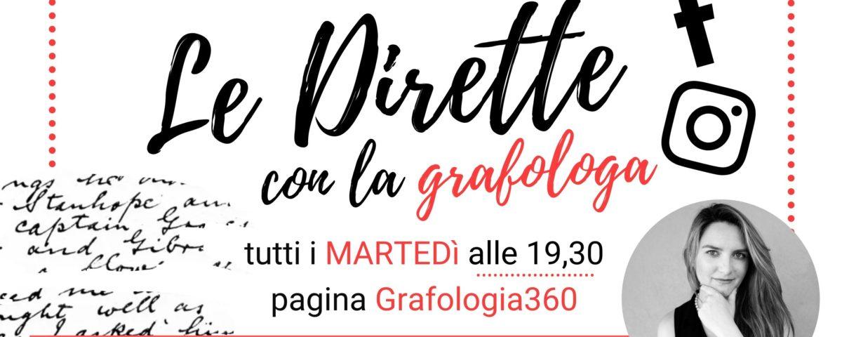 le dirette con la grafologa Chiara Dalla Costa di Grafologia360 i martedì alle 19,30