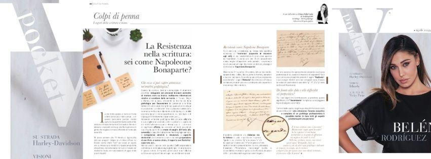 Resistenza nella scrittura spiegata da Chiara Dalla Costa di Grafologia360 in VPocket di aprile e maggio