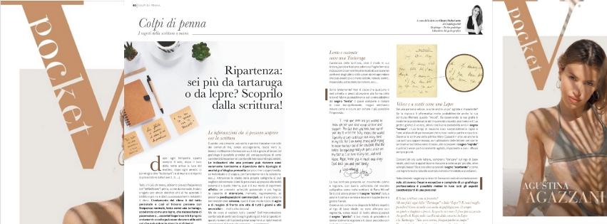 Andamento nella scrittura spiegato da Chiara Dalla Costa di Grafologia360 in VPocket di giugno