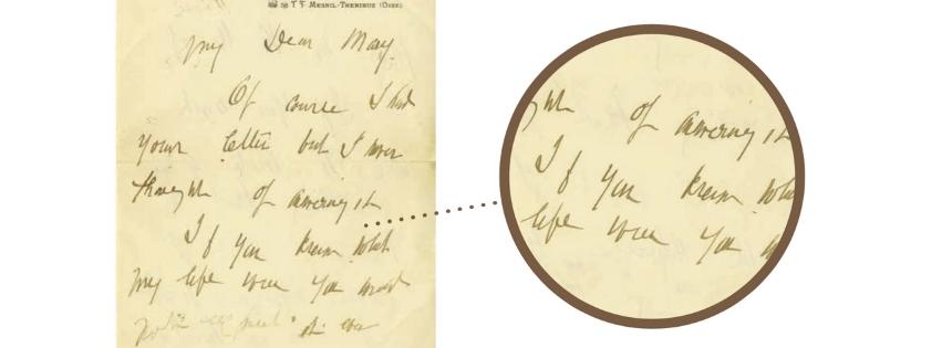 Scrittura di Mary Cassat