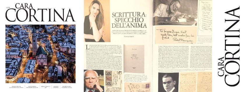 Cara Cortina intervista la grafologa Chiara Dalla Costa sulla scrittura di Moravia, hemingway e De Pisis