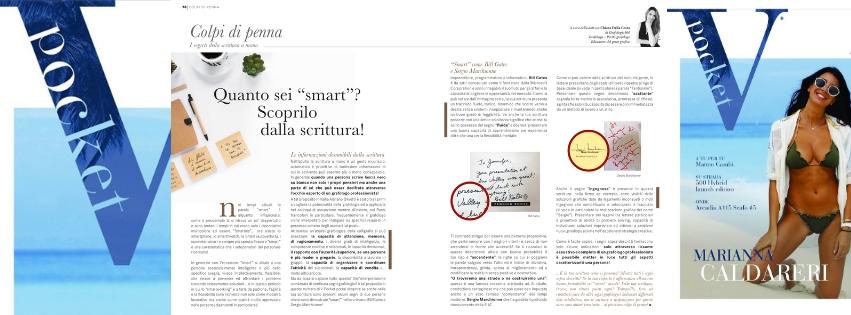 L'essere smart nella scrittura spiegato da Chiara Dalla Costa di Grafologia360 in VPocket di luglio