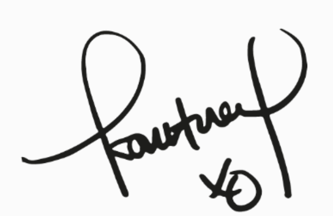 Firma autografo di Kourtney Kardashian