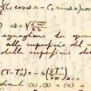 Scrittura del fisico Ettore Majorana