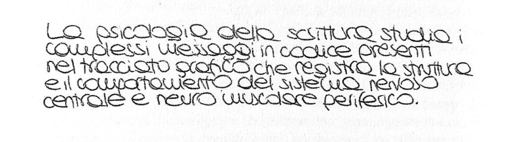"""Scrittura ad """"occhioni"""" tratta dal libro """"Psicologia della Scrittura"""" di A.Pizzi"""